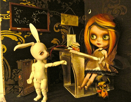 Olvido and the white bunny
